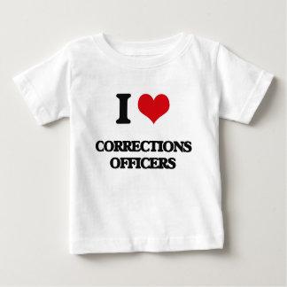 Amo a oficiales de correcciones camisas