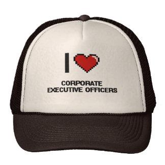 Amo a oficiales de ejecutivo empresarial gorras de camionero