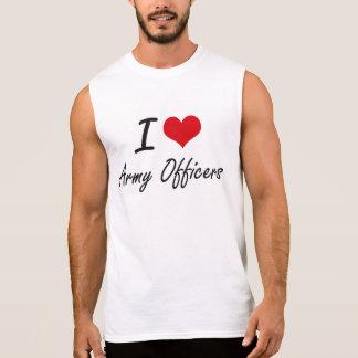 Amo a oficiales de ejército playera sin mangas