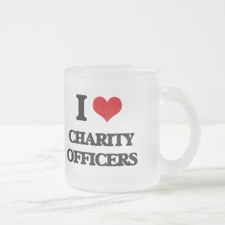 Amo a oficiales de la caridad taza cristal mate