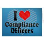 Amo a oficiales de la conformidad felicitacion