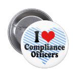 Amo a oficiales de la conformidad pin