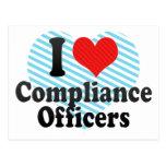 Amo a oficiales de la conformidad postales
