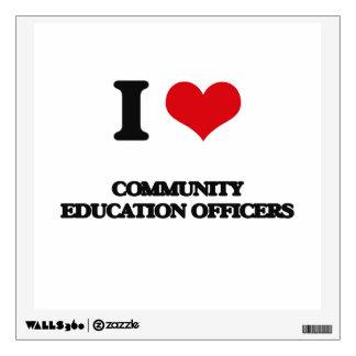 Amo a oficiales de la educación de la comunidad