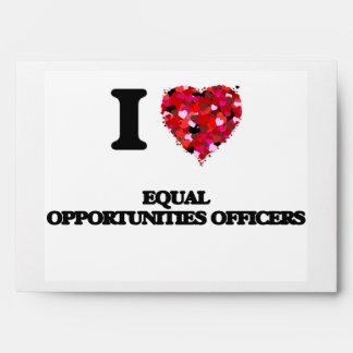 Amo a oficiales de la igualdad de oportunidades sobres