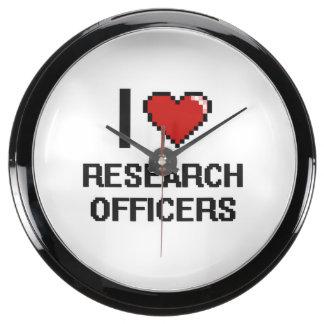 Amo a oficiales de la investigación reloj pecera