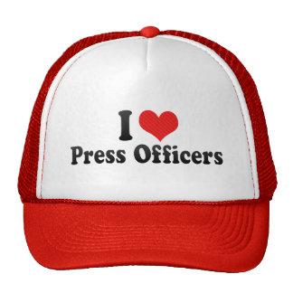 Amo a oficiales de la prensa gorras