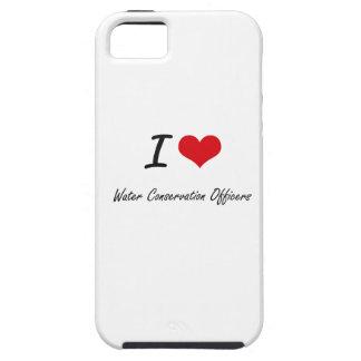 Amo a oficiales de la protección de agua iPhone 5 funda