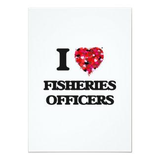 """Amo a oficiales de las industrias pesqueras invitación 5"""" x 7"""""""