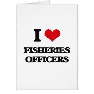 Amo a oficiales de las industrias pesqueras tarjeta de felicitación
