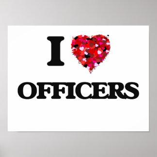 Amo a oficiales póster
