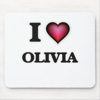 Amo a Olivia Alfombrillas De Ratón