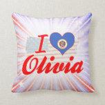 Amo a Olivia, Minnesota Almohadas