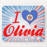 Amo a Olivia, Minnesota Tapete De Ratón