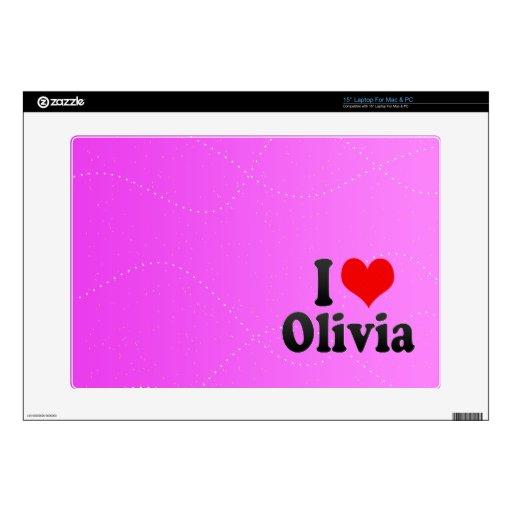 Amo a Olivia Portátil Calcomanía
