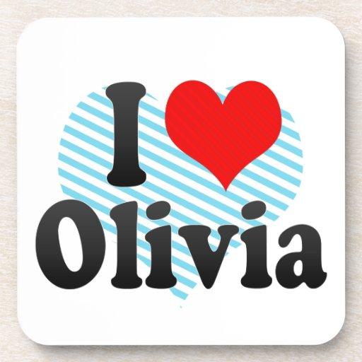 Amo a Olivia Posavasos De Bebida