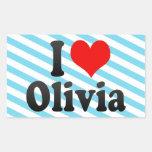 Amo a Olivia Rectangular Altavoz