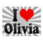 Amo a Olivia Tarjeta Postal