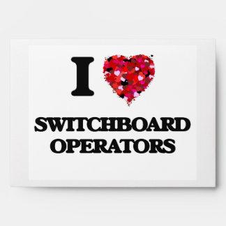 Amo a operadores de centralita telefónica sobres
