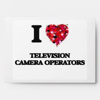 Amo a operadores de la cámara de televisión sobres