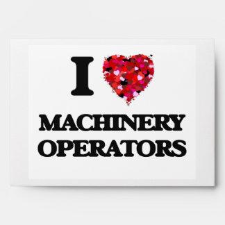 Amo a operadores de la maquinaria sobre