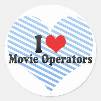 Amo a operadores de la película pegatina