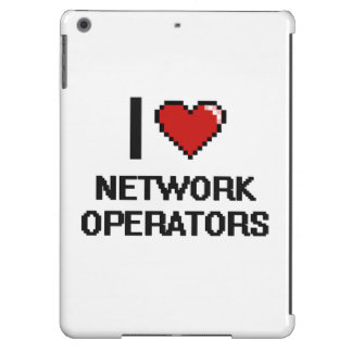 Amo a operadores de red funda para iPad air