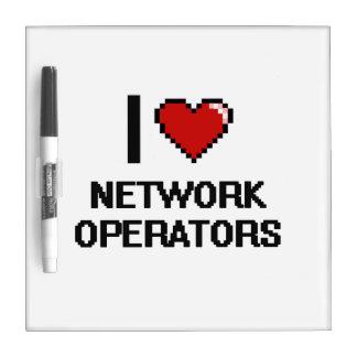 Amo a operadores de red tableros blancos