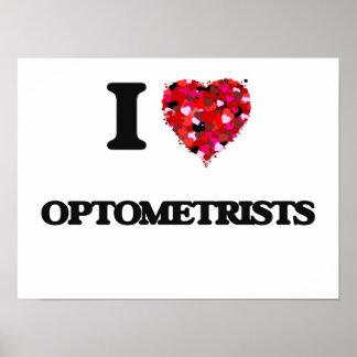 Amo a optometristas póster