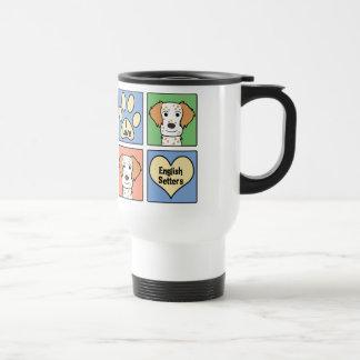Amo a organismos ingleses taza de café