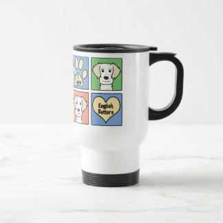 Amo a organismos ingleses tazas de café