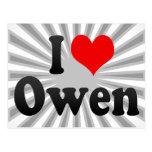 Amo a Owen Tarjeta Postal