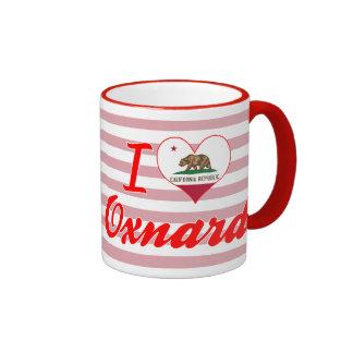 Amo a Oxnard, California Taza A Dos Colores