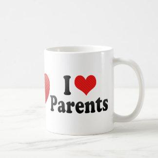 Amo a padres taza