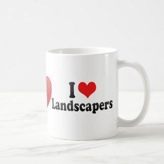 Amo a paisajistas tazas de café