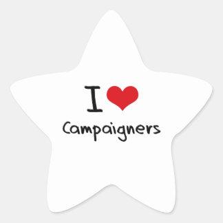 Amo a paladines calcomanías forma de estrellaes personalizadas