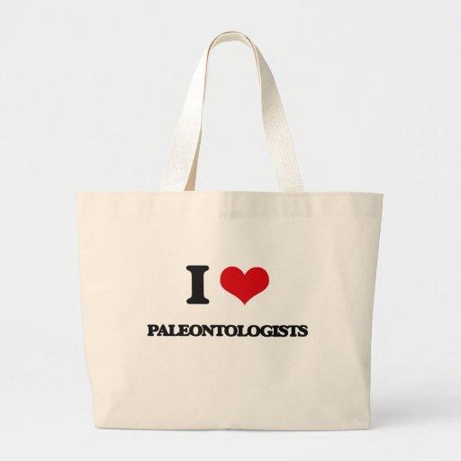 Amo a paleontólogos bolsas de mano