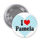 Amo a Pamela Pin Redondo De 1 Pulgada