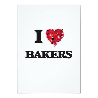 """Amo a panaderos invitación 5"""" x 7"""""""