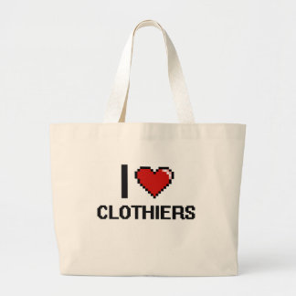 Amo a paneros bolsa tela grande