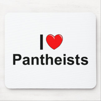 Amo a Pantheists (del corazón) Alfombrillas De Ratón