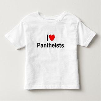 Amo a Pantheists (del corazón) Playera De Bebé