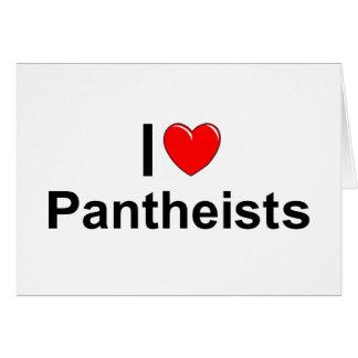 Amo a Pantheists (del corazón) Tarjeta De Felicitación