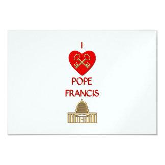 """Amo a papa Francisco Invitación 3.5"""" X 5"""""""