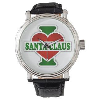 Amo a Papá Noel Reloj De Mano