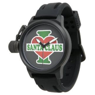 Amo a Papá Noel Relojes De Mano