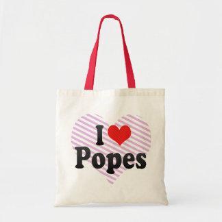 Amo a papas bolsas lienzo