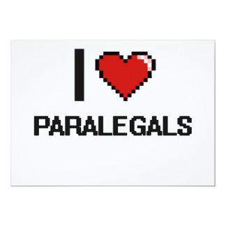 """Amo a Paralegals Invitación 5"""" X 7"""""""