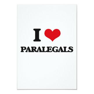 """Amo a Paralegals Invitación 3.5"""" X 5"""""""