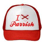 Amo a Parrish, Alabama Gorro De Camionero